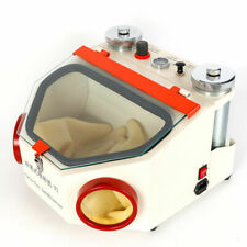 Dental Lab Equipment Twin-Pen Sandblaster with 2 Metal Tanks LED Light US Stock