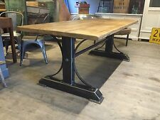 Rustic Industrial Reclaimed Metal 7ft Iron Bridge Frame Dining Table Steampunk