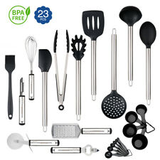 23x Kitchen Aid Nonstick Utensils Set Best Cooking Tool Stainless Steel Silicone