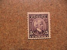 Canada 1927 #144 Sir Wilfred Laurier 5c violet Mint F Hinged