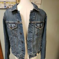 Abercrombie and Fitch Denim Trucker Jean Jacket Men's Size M Distressed
