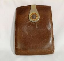 VINTAGE GUCCI MENS LEATHER WALLET with MONEY CLIP 70s 80s RARE