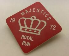 MAJESTIC ROYAL RUN 1972 PLASTIC JACKET VEST PIN