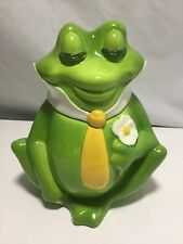 Metlox FROG PRINCE Vintage Cookie Jar Marked MADE IN Poppytrail CALIF. (cl)