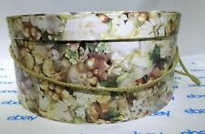 "Floral Patterned Hat Box Storage by Tri Coastal Design 15"" x 7"" Tf"