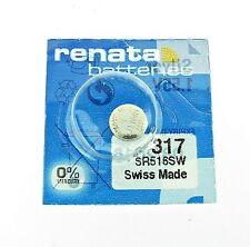 Renata SR516SW (317) Silver 1.55 V watch battery