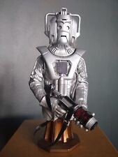 """More details for dr who cyberman trooper cyberman 8"""" masterpiece titan statue bust model boxed"""