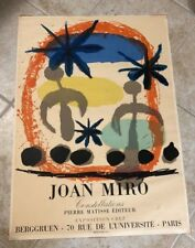 AUTHENTIC 1959 JOAN MIRO CONSTELLATIONS MOURLOT LITHOGRAPH ART EXHIBITION POSTER