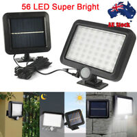 Solar Powered 56 LED Light PIR Motion Sensor Outdoor Garden Security Flood Lamp