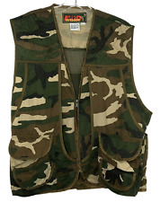 Avid Outdoor Men's Camo Hunting Vest Multi Pocket With Game Pouch Size XL 46-48