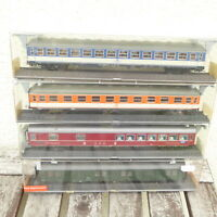 Röwa 4 teiliges Konvolut POP-Schnellzugwagen Set der DB Epoche 4 mit KK und NEM