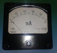 1 Stck Einbauinstrument 0...1mA DC M4200 UdSSR  NOS 1,5% Instrument
