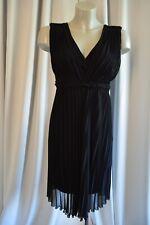 BLACKY DRESS BERLIN Sommer elegantes Chiffon Kleid 34  Plissee Schwarz  TOP *38