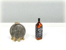Dollhouse Miniature Plastic J Daniels Whiskey Bottle