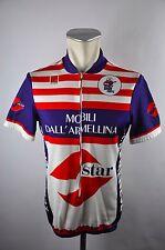 De Marchi vintage mobili Bike cycling jersey maglia Rad Trikot 5 BW 50cm C-16
