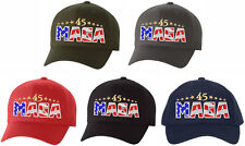 Trump 2020 USA MAGA Embroiderd Flex Fit Hat - Various Sizes and Colors