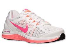 Women's Nike Dual Fusion Run 3 Running Shoes653594-100 White/Hyper Pink Size 6.5