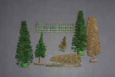 Alte Erzgebirge Bäume & Holz Zaun für Weihnachtsberg Eisenbahn Paradiesgarten