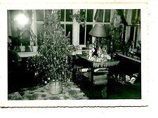 Christmas Tree-Home Interior Mid Century Holiday Vintage Snapshot Photograph