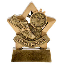 ATHLETICS RUNNING TROPHY ENGRAVED FREE TIMING TRACK FIELD MINI STAR TROPHIES