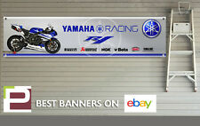 Yamaha R1 Racing Banner for Workshop, Garage, Pit Lane, Pirelli, Akrapovic, NGK