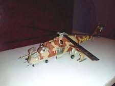 1/72 Mil Mi-24 F Hind gunship helicopter hand built and finished model Italeri