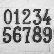Metal Digital Numbers Cast Iron House Sign Doorplate DIY Cafe Wall Decor