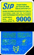 G P 36 C&C 1040 SCHEDA TELEFONICA USATA SIDA 9.000 L. 8605 LOT 139 TERZA QUALITA