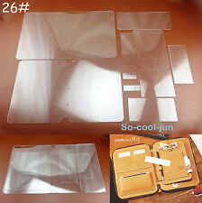 9pcs Leather Craft Acrylic Mobile Phone BriefcasePattern Stencil Template Tool
