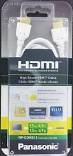 Lot 10 Panasonic RP-CDHS15 1.5m/4.9ft High Speed HDMI 1080P Full HD Cable White
