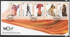 New Zealand 2004 FDC WOW World of Wearableart LTD set stamps