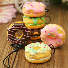 Cute Cream Scented Fruit Donut Squishy Bread Keychain Bag Phone Charm StrapLD
