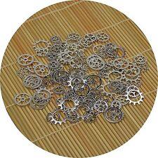 200 Anhänger Schmuckteile 5er Mix -Zahnrad Zahnräder Steampunk-Silber Antik- NEU