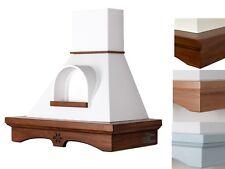 Cappa cucina rustica AGNY 90 da perete classica in legno con nicchia CL90-X