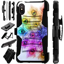 Lux-Guard For iPhone 6/7/8 PLUS/X/XR/XS Max Phone Case Cover RAINBOW PEACOCK