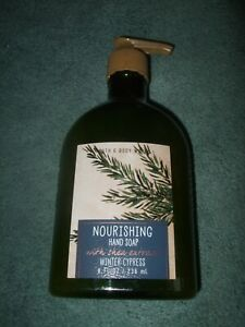 NEW Bath & Body Works Nourishing Hand Soap Shea Extract Winter Cypress 8 oz