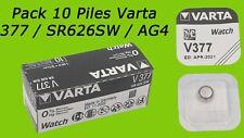 VARTA V377 SR66 1,55V 27mAh Pile Oxyde d'Argent (Pack de 10)