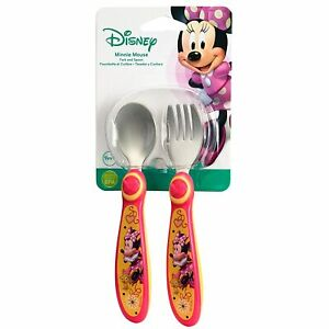 Disney Minnie Mouse Stainless Steel Flatware for Kids Ages 9m+ NEW