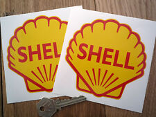 """Classic Shell Oils 4"""" shell Race & Rally Car Stickers."""
