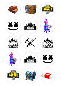 Personalised Fortnite Cupcake Toppers | Icing/Wafer Paper | Edible Print