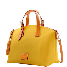 *Dooney & Bourke*Patterson Leather*Large Trina Satchel*Dandelion Yellow 17292P