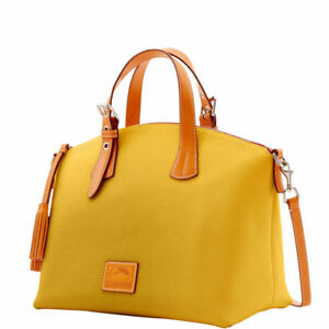 *Dooney & Bourke*Patterson Leather*Large Trina Satchel*Dandelion Yellow 17292P