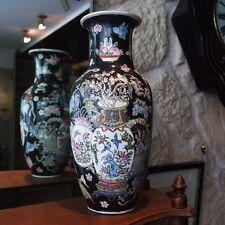 Vase en porcelaine chinoise décor à l'amphore, aux fleurs et aux oiseaux 1721-19