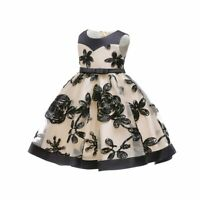 Bridesmaid kid party dresses girl tutu princess wedding baby formal flower dress