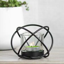 Metal Wire Black Tea Light Candle Holder Candlestick Home Decor Object Tealight