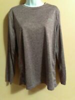 Women's Brown Duo Dry Long Sleeve Champion Active Shirt Top Size Medium