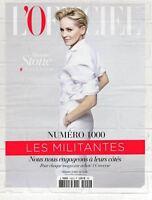 SHARON STONE * SALMA HAYEK * L'OFFICIEL DE LA MODE PARIS * NUMERO 1000 * 2015