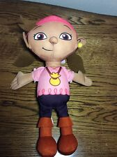 "Disney Izzy Jake Never Land Pirate Doll Plush 11"" Soft Toy Talks Fisher Price"