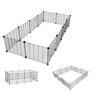 Pet Exercise PlayPen 12 Panels DIY Enclosure Fence Cage Small Animals Run UKDC