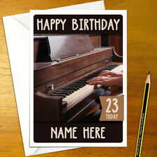 PIANO Personalised Birthday Card - A5 music musician musical instrument